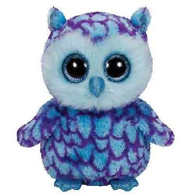 Ty Beanie Boos 6  Oscar The Blue Owl Plush