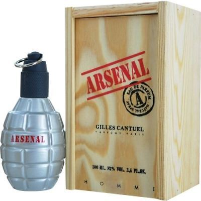Gille Gille - Arsenal Grey by Gilles Cantuel 3.4 oz EDP Cologne for Men New In Box