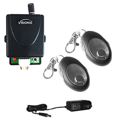 Visionis 5228 Two Wireless Remotes with One Channel RF Receiver and Power Supply ()