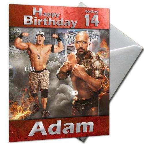 Rock Birthday Card – John Cena Birthday Cards