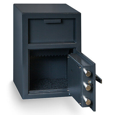 Hollon Safe B-Rated Heavy Duty Depository Drop Safe Dual Key Lock (Heavy Duty Drop Safe)