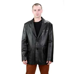 Mens Leather Blazer | eBay