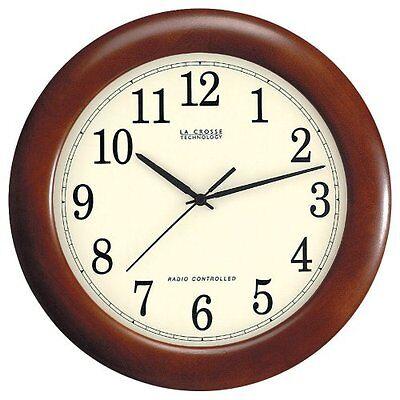 La Crosse Technology WT-3122A 12 1/2-Inch Wood Atomic Analog Clock , New, Free S