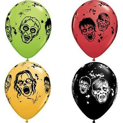 Zombie Latex Balloons, Birthday Party & Halloween Decor, Centerpiece, Gift Table](Zombie Birthday Party Decorations)
