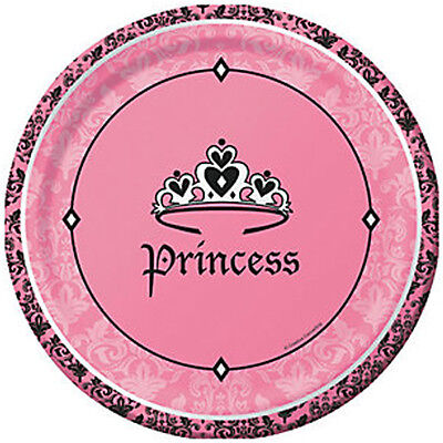 1st BIRTHDAY Royal Princess LARGE PAPER PLATES (8) ~ First Party Supplies Dinner ()