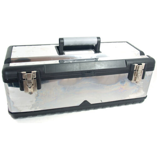 Details About 22 5 Inch Stainless Steel Toolbox Tool Storage Box Set Kit Diy Chest Bag New