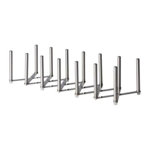 """IKEA Deckelhalter """"VARIERA"""" aus Edelstahl - ausziehbar - für bis zu 6 Deckel"""