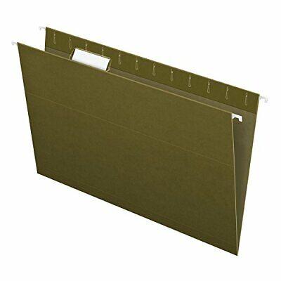 Pendaflex Recycled Hanging Folders Legal Size Standard Green 15 Cut 25bx 81622