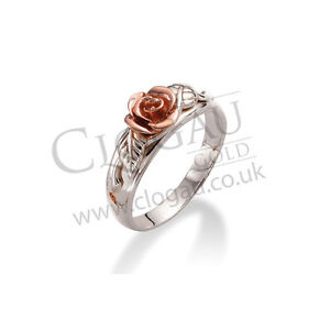 Clogau Silver & Rose Gold Royal Roses Ring *SAVE 25% OFF RRP £139* SIZE T