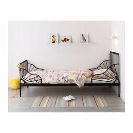 Ikea kids extendable bed Minnen black
