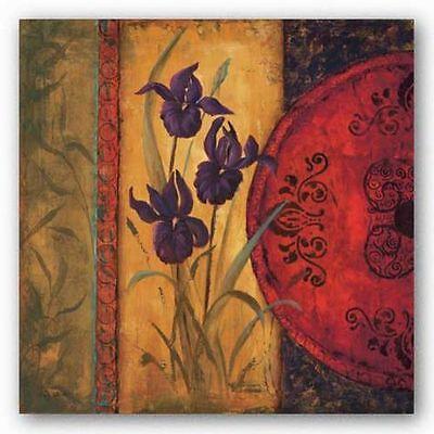 FLORAL ART PRINT Iris Fusion I Linda - Iris Fusion