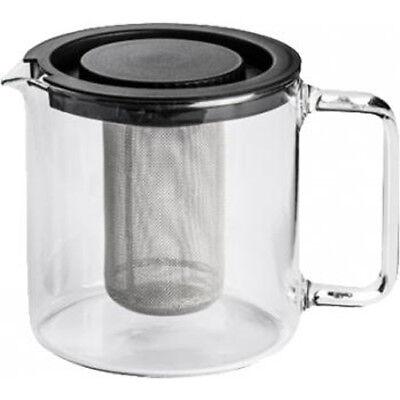 Teekanne 1,3 L mit Metallsieb Bohemia Borosilikat-Glas Tee Sieb Filter Glaskanne ()
