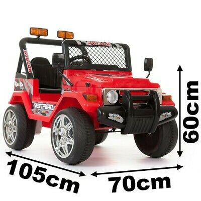 Kids 2 Seater Ride on 12v Electric Battery 4x4 Jeep in BLUE / RED / PINK / BLACK