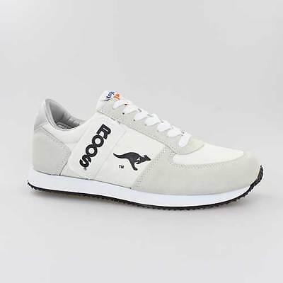 KANGAROOS SCHUHE COMBAT WHITE WEISS BEIGE LEDER (Combat Schuhe Für Männer)