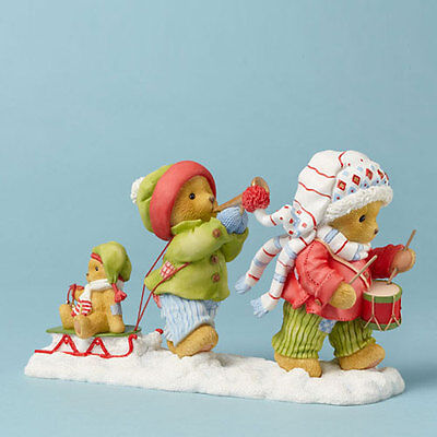 Cherished Teddies Lyndell & Kinsley Join Our Holly, Jolly 4042549 NIB