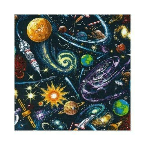 Space fabric ebay for Space boy fabric