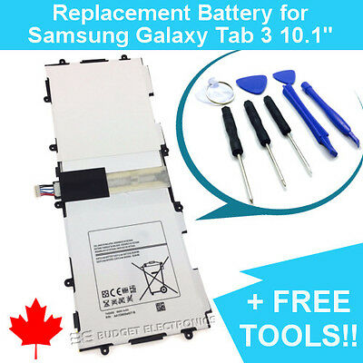 Samsung Galaxy Tab 3 10.1 Replacement Battery T4500E P5210 6800mAh FREE TOOLS for sale  North York