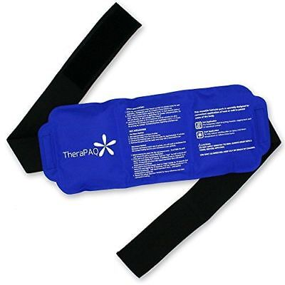 Reusable Ice Pack with Strap by TheraPAQ - Hot & Cold Wearable Wrap - SHIPS (Reusable Ice Pack With Strap By Therapaq)