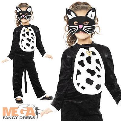 Cat Girls Fancy Dress Childrens Animal Book Character Kids Halloween Costume