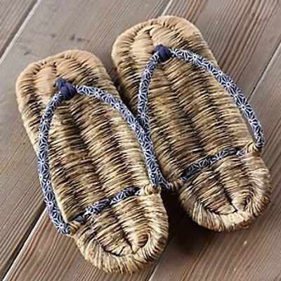 Japanese Sandals Setta Zori No Rubber Sole Hand Made In Japan Bamboo US Size 8