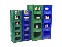 Used LC1 Large Stackable Logistics Storage Containers (Blue) RRP £38