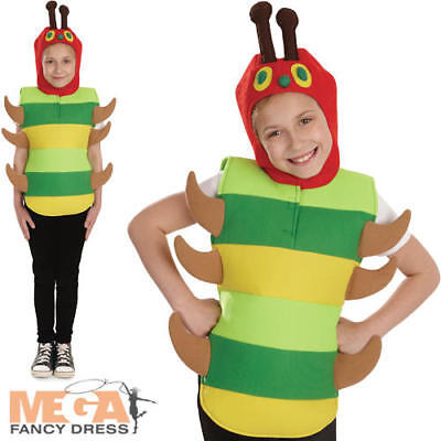 Kids The Very Hungry Caterpillar Fancy Dress Book Week Boys Girls Childs Costume - The Hungry Caterpillar Costume