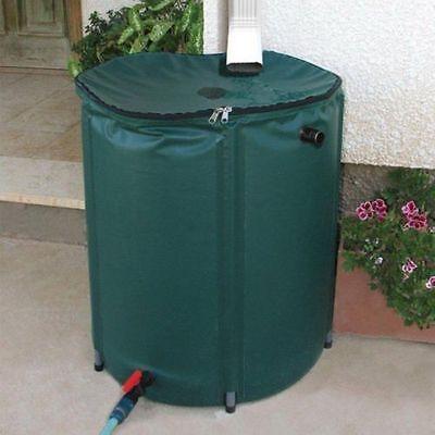 Portable Rain Barrel 50 Gallon Water Collector ...