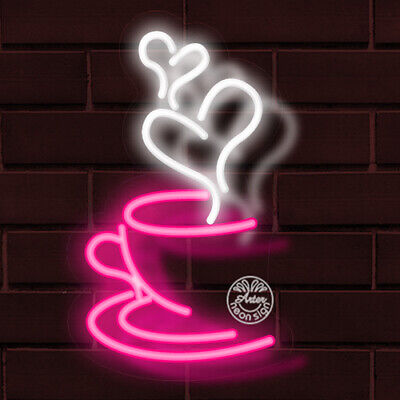 BRAND NEW COFFEE CUP w/STEAM 19x12X1 INCH LED INDOOR FLEX SIGN (Coffee Cup Led Sign)
