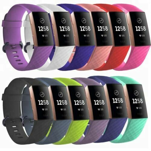 Jewellery - For Fitbit Charge 3 4 Replacement Silicone Wristband Band Watch Wrist Straps