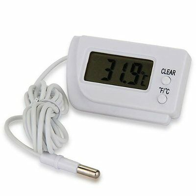 Digital Lcd Thermometer Temperature Sensor Fridge Freezer Indoor Outdoor Lw