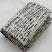 Newspaper Print Fabric