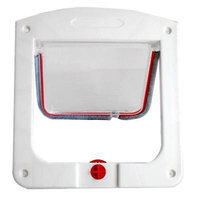 Durable 4-Way Locking Door Catflap for Pet Cat High Quality