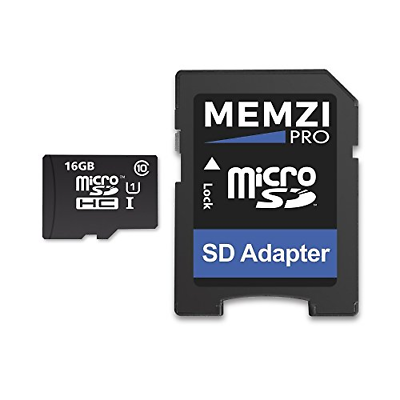 MEMZI PRO 16GB Class 10 90MB/s Micro SDHC Memory Card with S
