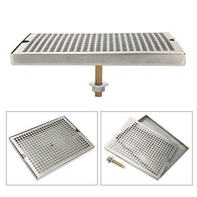 Stainless Steel Tower Cutout Draft Beer Drip Tray No Drain 12x7 Ship From Us