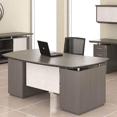 Modern Executive Desk Optional Hutch Credenza Private Office Room Professional