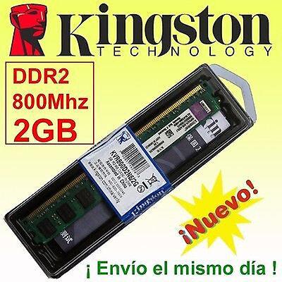 Memoria RAM DDR2 2GB 800 Mhz Kingston - ¡ NUEVA ! -...