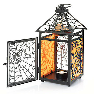 YANKEE CANDLE HALLOWEEN GOTHIC SPIDER WEB HANGING LANTERN TEA LIGHT WAX WARMER