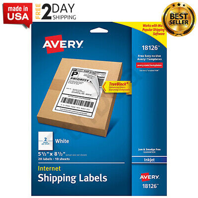 Shipping Address Labelshalf Sheet Labels 20 Labelspermanent Adhesive Trueblock