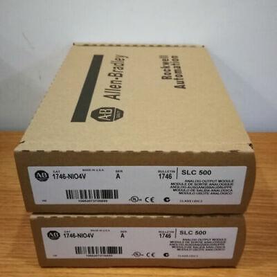 New In Box A-b 1746-nio4v 1746nio4v Ser A Slc 500 Analog Output Module