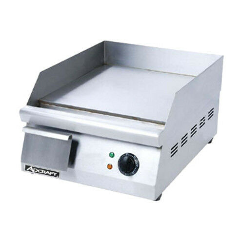"Adcraft Grid-16 16"" Electric Countertop Griddle With Flat Griddle Surface"