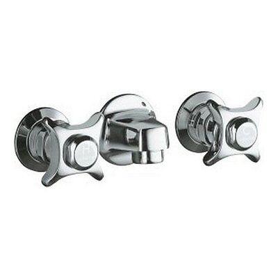 KOHLER K-8052-CP  Triton shelf-back lavatory faucet with grid drain - Chrome Triton Triton Shelf