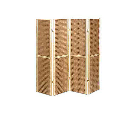 Folding 4 Panel Pegboard Display Unit - 60 H - Folds Flat