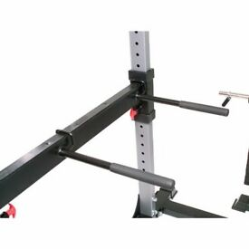 Bodycraft F430 Power Rack System, Bench and Lat - Low Pulley plus 200lb Stack and dip station