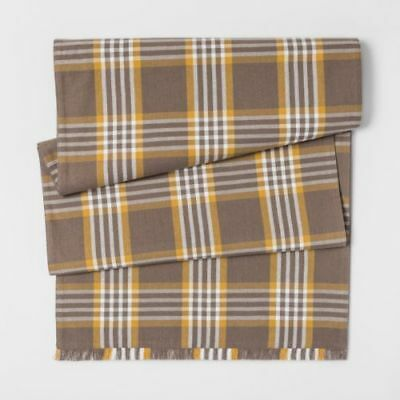 Yellow Table Runners (Threshold Brown Yellow Plaid Table Runner  20
