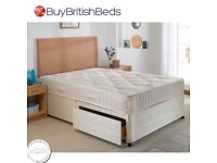 BRAND NEW : SUPERB OFFER: 4FT OR 4FT6 DOUBLE DIVAN BED WITH SUPER ORTHOPEDIC MATTRESS £139