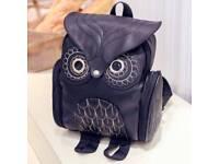 Ladies Owl backpack- Black. Free UK delivery.