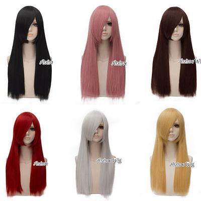 60cm Wellig Medium Basis Frauen Anime Cosplay Perücke + Free Wig Cap Karneval ()