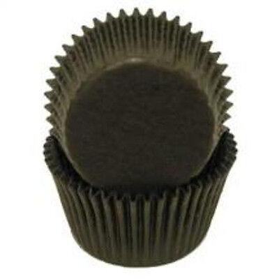 BLACK SOLID COLOR - GLASSINE CUPCAKE LINERS - 100 Ct. Standard Size