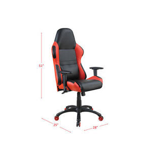 Brand New In Box Dale Bonded Faux Leather Task Chair - Black/Red