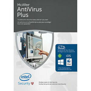 McAfee AntiVirus Plus 2016 - Unlimited Devices 1yr -Sealed - $15